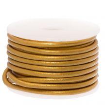 DQ leer Metallic (2 mm) Gold (5 Meter)