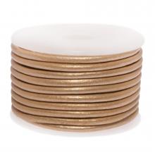DQ leer Metallic (3 mm) Cream Peach (5 Meter)