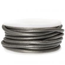 DQ leer Metallic (3 mm) Grey (5 Meter)