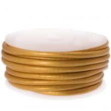 DQ leer Metallic (3 mm) Gold (5 Meter)