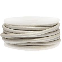 DQ leer Metallic (3 mm) White (5 Meter)