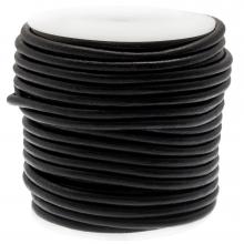 DQ leer Regular Voordeelrol (4 mm) Black (20 Meter)