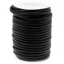 DQ leer Regular Voordeelrol (5 mm) Black (20 Meter)