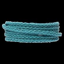 DQ Gevlochten Leer Regular (4 mm) Sky Blue (1 Meter)
