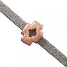 Schuiver Kruis (Binnenmaat 3 x 2 mm) Rose Goud (10 Stuks)