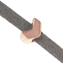 Schuiver (Binnenmaat 3 x 2 mm) Rose Goud (10 Stuks)