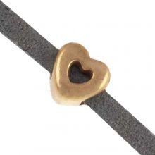 Schuiver Hartje (Binnenmaat 3 x 2 mm) Goud (10 Stuks)