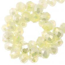Facetkralen Rondell (2 x 3 mm) Pale Yellow (130 Stuks)