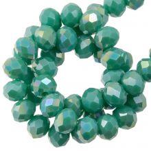 Facetkralen Rondell (3 x 4 mm) Aqua Green (130 Stuks)