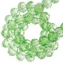 Facetkralen Rondell (3 x 4 mm) ) Bright Green (130 Stuks)