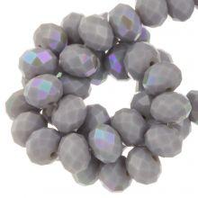Electroplated Facetkralen Rondell (8 x 6 mm) Lilac Grey (67 stuks)