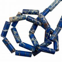 Regaliet Jaspis Kralen (14 x 4.5 mm) Royal Blue (28 stuks)