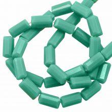 Glaskralen Opaque (7 x 3 mm) Mint Green (80 Stuks)