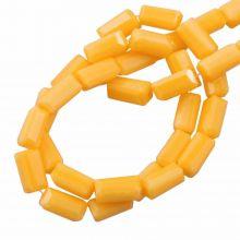 Glaskralen Opaque (7 x 3 mm) Honey Yellow (80 Stuks)