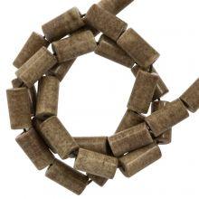 Agaat Kralen Gekleurd (8 x 4 mm) Brown (45 stuks)