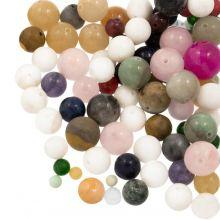 Voordeelpakket - Natuursteen Kralen (4, 6, 8, 10, 12 mm) Mix Color (100 Gram)