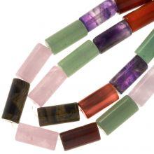 Natuursteen Kralen Mix Color (18 x 8 mm) 23 stuks