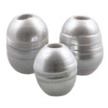 Zoetwaterparels (8 - 12 mm) Silver (5 Stuks)
