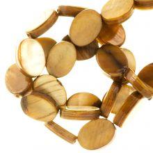 Zoetwaterparel- Schelp Kralen (8 x 6 mm) Golden Brown (46 Stuks)