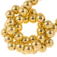 Electroplated Hematite Kralen (3 mm) Gold (130 stuks)