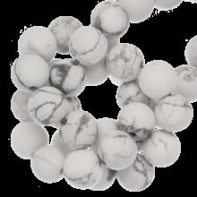 Howlite Frosted Kralen (8 mm) 45 Stuks