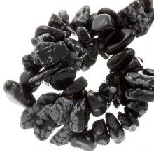 Natuursteen Chips Snowflake Obsidian (8 - 12 mm) 150 stuks
