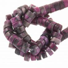 Heishi Natuursteen Kralen (4 x 2 mm) Deep Pink (160 Stuks)
