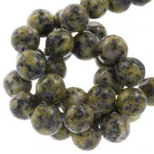 Labradoriet Kralen (8 mm) Dark Lime (46 stuks)