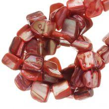 Schelp Kralen (8 x 8 mm) Red (48 Stuks)