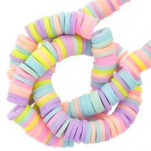 Polymeer Kralen (6 x 1 mm) Mix Color Pastel (300 Stuks)