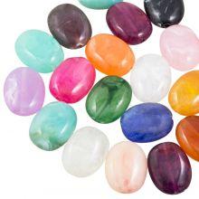 Acryl kralen Natuursteen Look (19 x 15 mm) Mix Color (35 stuks)