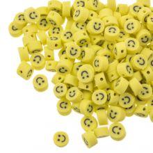 Polymeer Kralen Smiley (5 x 3 mm) Yellow (50 stuks)