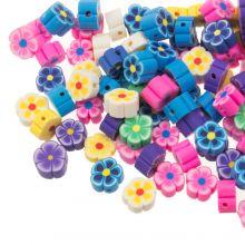 Kralenmix - Polymeer Kralen Bloem (9 x 4 mm) Mix Color (50 stuks)