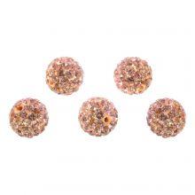 Shamballa kralen (10 mm) Salmon Peach (5 stuks