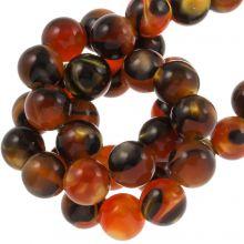 Resin Kralen (8 mm) Orange Brown (15 Stuks)