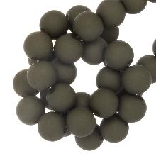 Acryl Kralen Mat (8 mm) Dark Olive Green (200 stuks)