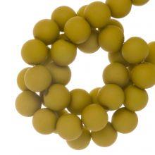 Acryl Kralen Mat (8 mm) Mustard (200 stuks)