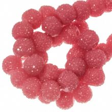 Acryl Kralen Rhinestone (8 mm) Candy Pink (25 Stuks)