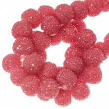 Acryl Kralen Rhinestone (6 mm) Candy Pink (30 Stuks)