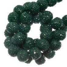 Acryl Kralen Rhinestone (8 mm) Forest Green (25 Stuks)
