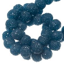 Acryl Kralen Rhinestone (8 mm) Cobalt Blue (25 Stuks)