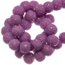 Acryl Kralen Rhinestone (4 mm) Purple (45 Stuks)