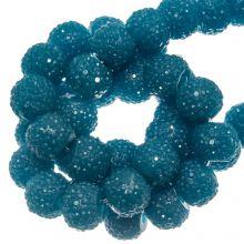Acryl Kralen Rhinestone (8 mm) Ocean Blue (25 Stuks)