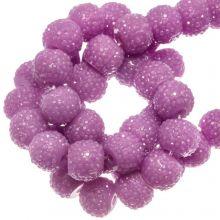 Acryl Kralen Rhinestone (4 mm) Pink Orchid (45 Stuks)