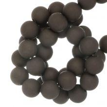 Acryl Kralen Mat (8 mm) Dark Brown (180 stuks)