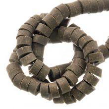 Polymeer Kralen (6 x 3 mm) Dark Khaki (115 Stuks)