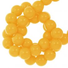 Acryl Kralen (8 mm) Sunrise Yellow (100 stuks)