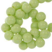 Acryl Kralen (6 mm) Pastel Green (100 stuks)