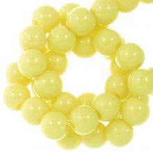 Acryl Kralen (8 mm) Pastel Yellow (100 stuks)