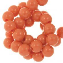 Acryl Kralen (6 mm) Sunset Orange (100 stuks)